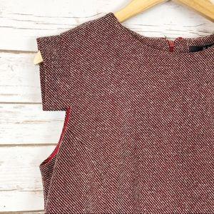 Mango Dresses - MNG by Mango Sheath Dress Red, Blk, Wht Speckles L